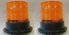 Due XENON Multi Flash Ambra ARANCIONE SEGNALATORE AUTO FURGONE CAMION PERMANEN Mount 12v - 24v