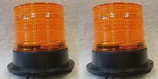 Dos Flash Xenon Multi ámbar Naranja Faro Coche Furgoneta Camión permanen Monte 12v - 24v