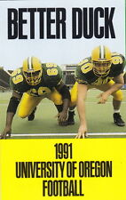 1991 UNIVERSITY OF OREGON DUCKS FOOTBALL POCKET SCHEDULE