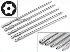 5pcs Extra Long Hex Magnetic Security Torx Bit T10 T15 T20 T25 T30 Tool Kit Set