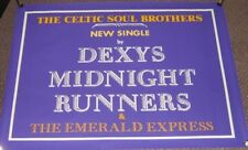 """DEXY'S MIDNIGHT RUNNERS U.K. PROMO POSTER """"THE CELTIC SOUL BROTHERS"""" SINGLE 1982"""