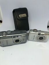 2 Cannon PowerShot S40 And SD850  ELPH CAMERAS USED No Battery  Parts Or Repair