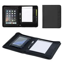 Carpeta A5 Negro Iphone Tablet titular cartera Multi Funcional escribir caso UK