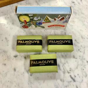 Vintage Christmas Palmolive  Box of Soap.