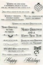 18 CHRISTMAS MESSAGES CLEAR STAMPS/XMAS SAYING/SENTIMENTS WORDS/IMAGES STAMP
