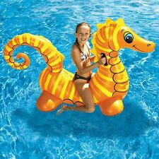 "NEW 72"" Sea Horse Jumbo Kids Rider Inflatable Pool Float Raft Water Floating Toy"