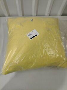 """West Elm  Outdoor Garment Washed Pillow 20""""x20""""  Sun Yellow Indoor/outdoor New"""
