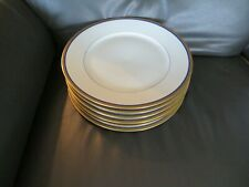 6 assiettes à dessert en porcelaine de limoges Haviland liseré or et bleu (1)