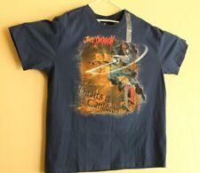 Disney Store Jack Sparrow Pirated of the Caribbean T Shirt Blue Sz XL