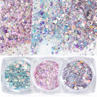 Holographic Nail Glitter Powder Irregular Sequins Flake Nail Art Decorations DIY