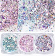 Holographic Nail Glitter Powder Irregular Sequins Flake Nail Art Decorations DIY
