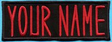 """CHILDS Custom Ghostbusters 1 Name Tag Patch with HOOK backing - """"YOUR NAME"""""""