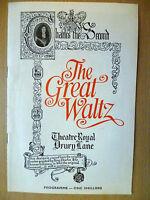 1969 Theatre Royal Drury Lane Programme: THE GREAT WALTZ by Jerome Chodorov