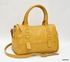 New $288 B. Makowsky Woven Satchel Shoulder/Crossbody Bag Handbag Tote ~Nutmeg
