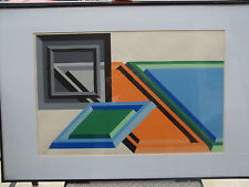 Modernist 1970 Print signed and dated and titled