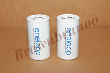 SANYO ENELOOP Spacers Adapters AA to C Size Battery 2 Pcs NEW