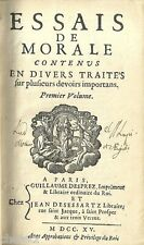 Nicole, Pierre: Essais De Morale; Aufklärung, 1715