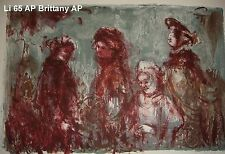 Brittany artist proof pre 1974 by Edna Hibel