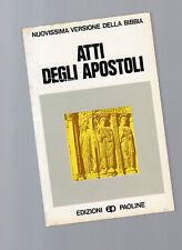 atti degli apostoli - novissima edizione della bibbia - edizioni paoline -giallo