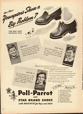 1944 Vintage ad for Poll-Parrot and Star Brand Shoes (101613)