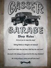 "(568) DRAG STRIP GASSER GARAGE NOVELTY POSTER 57 CHEVY SHOP RULES 11""x17"""