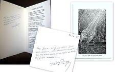 Gaston BOURGEOIS Carte de Voeux: 1 Poème signé + gravure Didier RAYNAL Poesie !