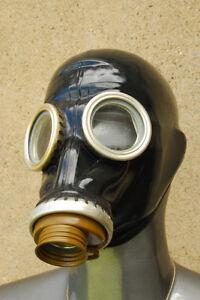 Gasmaske,schwarz,Gummi,Latex,Fetisch,Rubber, Gr. 1