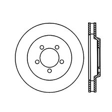 Centric Parts 120.61059 Front Premium Brake Rotor