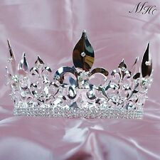 "Imperial Medieval Fleur De Lis Tiara for Men 4.25"" Full King Crown Art Costume"