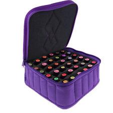 Soft 30 bottles Essential Oil Carrying Portable Holder Case Bag Tool 15mL Purple