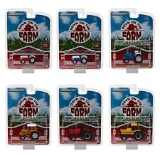 DOWN ON THE FARM SERIES 1 SET OF 6 TRACTORS 1/64 DIECAST BY GREENLIGHT 48010