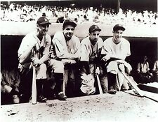 1927 YANKEES LED BY BABE RUTH LOU GEHRIG MURDERS ROW ON DUGOUT STEPS CLASSIC