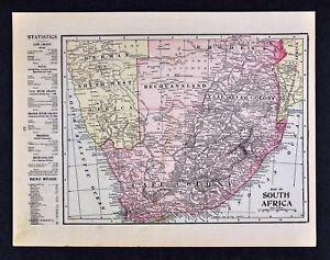 Antique Map 1906 Harmsworth Atlas Natal Orange River Colony /& Transvaal