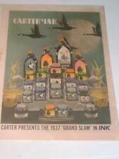 """Vintage Carters Ink Advertisement, c1937 """"Grand Slam"""" in Ink"""
