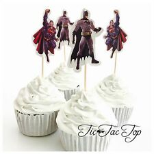 12x Batman Vs Superman Cupcake Topper Pick. Party Supplies Lolly Loot Bag