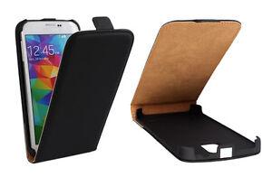 Schutzhülle Samsung iPhone Klapp Hülle Flip Cover Case Etui Handytasche Schwarz