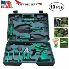 Garden Tool Sets 10 Pieces Gardening Kit Lightweight Planting Tools W9G4