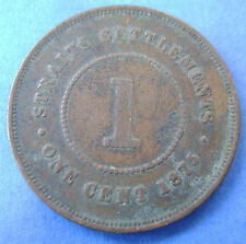 Straits Settlements -  1 cent one cent 1875 Queen Victoria KM# 9