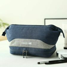 Polyester Makeup Storage Bag with Wet Dry Separator Cosmetic Travel Organizer