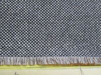 """1 YD & 8"""" WOOL BLEND UPHOLSTERY FABRIC GRAY & BROWN WOVEN"""