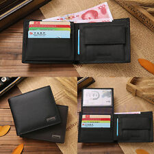 Mens Bifold Leather Slim Brown Trifold Wallet Credit/ID Card Holder Coin Purse
