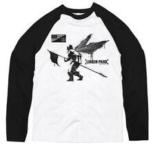 Linkin Park 'Street Soldier' (2 Tone) Long Sleeve Raglan Baseball Shirt - NEW