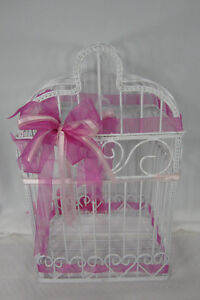 Wedding Gifts Birdcage Bridal Shower Centerpiece Cards Holder Metal Wire Hearts