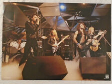 Iron Maiden 1981 Poster Live Stage Shot Rock On Holland
