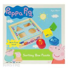 Peppa Pig Shape Sorter Puzzle | Peppa Pig Wooden Sorting Box | Peppa Pig Toys