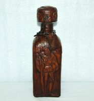 Leather Wrapped Bottle Liquor Whiskey Cognac Decanter Hand Craffted in Spain Emp