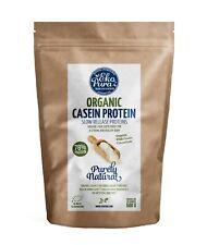 Bio-Casein Protein - 78% Eiweißpulver, Bio zertifiziert, Frei von Additiven,500g