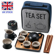 More details for ceramic porcelain travel tea set portable chinese kung fu teapot cup for gift