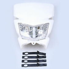 White Universal Street Fighter Headlight Headlamp 12V fit Yamaha Kawasaki Suzuki