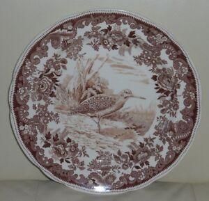 COPELAND SPODE ENGLAND GAME BIRD BROWN WOODCOCK #9 TRANSFERWARE DINNER PLATE